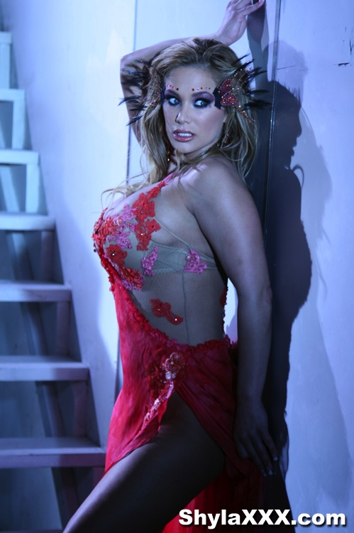 Shyla Stylez Red Dress Strip